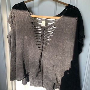 Cute relaxed Free People top